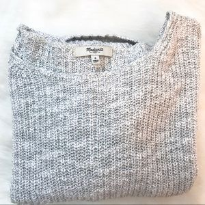 Madewell •  Gray Knit Pullover Sweater